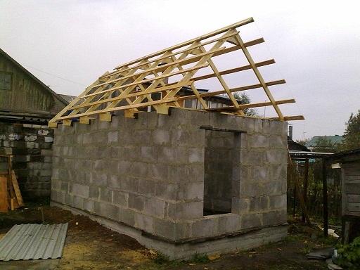 Баня из пеноблоков в процессе постройки. - 23 Ноября 2013 - Blog - Technlogic